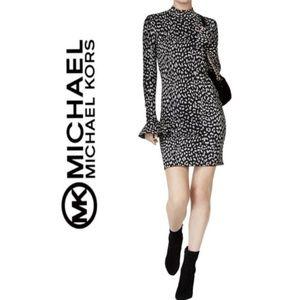 NWT MICHAEL KORS Metallic Cheetah Sweater Dress